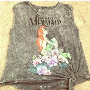 Women's sleeveless acid wash Little mermaid top